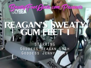 Reagan makes Jenny gag on her sweaty gym feet