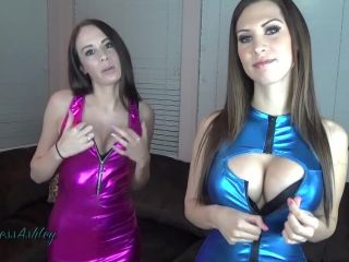 Princess Ashley and Goddess Lindsey - Denied By Shiny Tits