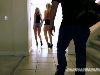 The Mean Girls – Goddess Platinum, Princess Amber – Garbage Disposal (1080 HD) – Humiliation – Degradation, Female Domination on public giantess femdom