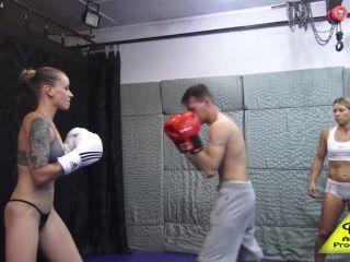 Antschas wrestling and fetish store - Lady Antett beats him down BEAT ...