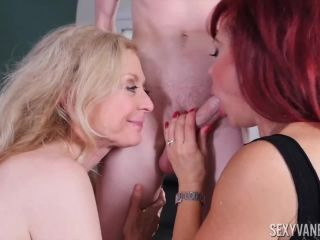 Two Mature Women and Young Guy - Nina Hartley, Sexy Vanessa