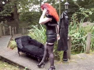 Online femdom video Mistress Lady Renee - Chained To Footworship