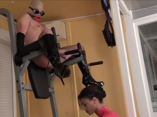 [Femdom 2018] Kinky Mistresses  Fisted On The Sport Tower [Anal Play, Anal, Anus, Ass, Male Insertions, Anal Fisting, Fist]
