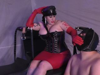 Leather Glove Hand Over Mouth Femdom