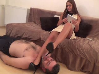 Bratty Lady Thalia – Footstool For The Business woman