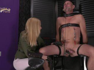 Oubliette - Predicament - Mistress Paris - CBT, ebony femdom pegging on bdsm porn