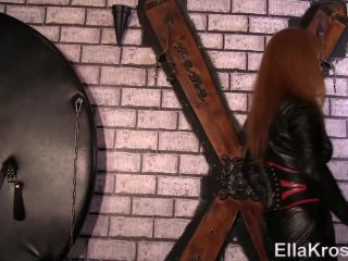 ella kross  testing new slave`s pain tolerance with whipping  slave torture