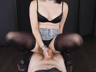 Hot Handjob & Footjob Femdom Torture - Asian Mistress Edging POV Era