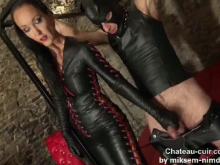 Bound teased and denied leather slave part 2