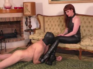 Femme Fatale Films – Boot Worship Day – Part 2. Starring Miss Zoe  boot domination  boot sniffing  boot worship  boots  humiliation  leather ankle boots  k2s.cc