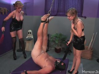 [Femdom 2018] Lakeview Entertainment  Beat Those Balls Blue. Starring Mistress Savannah and Mistress Missy [Whipping, Whipped, Whip, Corporal Punishment]