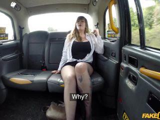 Busty passenger gives good tit wank