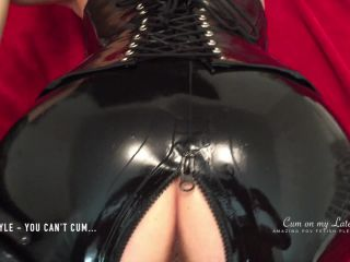 Latex Mistress POV Doggystyle ''You can't cum slave...'' with latex pa ...