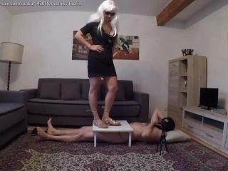 Mistress Fatalia – Roman leather sandals CRUSH – Femdom trampling
