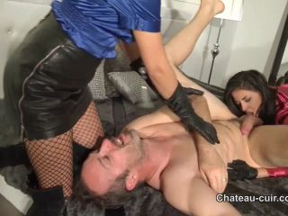 chateau-cuir: satin and leather cum lovers part 2