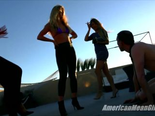 Foot Domination – THE MEAN GIRLS – Walking All Over Euro-Trash – Princess Ashley, Princess Chanel and Princess Skylar
