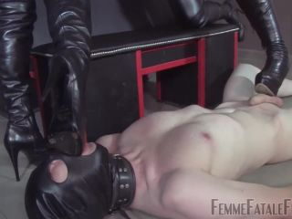 Ball Abuse – FemmeFataleFilms – Brutal Boots Part 2 – Mistress Heather and Mistress Lady Renee