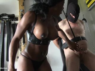 ball busting chicks  mistress kiana  fun with slave balls  cbt