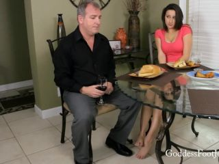 Goddess Footjobs presents Ashley Adams in Having Dinner with her Stepdad