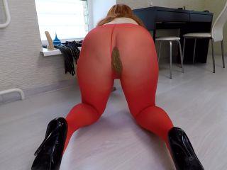 Shit in Red Pantyhose [FullHD 1080P] - Screenshot 5
