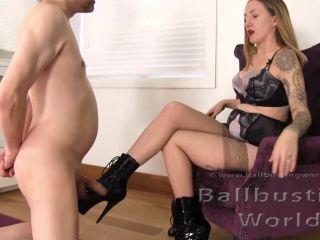 BallbustingWorld – Nikki Whiplash  – Brutal Booted Ballbusting for Pervert