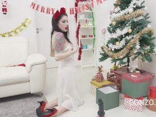 Amazing new Christmas anal porn with tattooed pornstar Anna de Ville