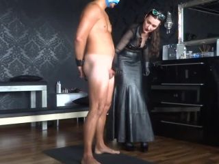 On the cumshot office Handjob and Forced orgasm