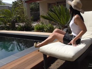 young goddess kim - goddess kim humiliates small penis slave