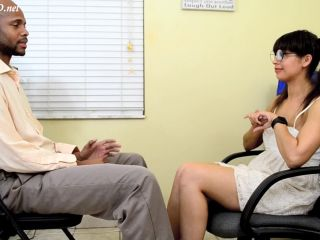 Online Tube Kitty Catherine in Cum in Pants at Job Interview - handjob and footjob