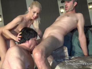 Forced Bi – Dirty Dommes – Rich blonde cuckolds Loser husband part 2 – Nesty