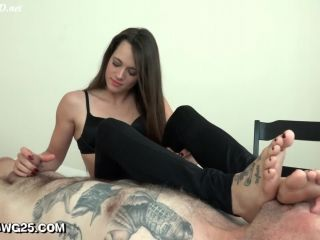 Stinky Foot Smelling Handjob with Dacey Harlot