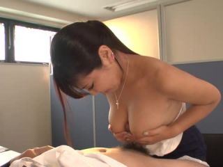 Yu Shinohara gives Asian blowjob at the office