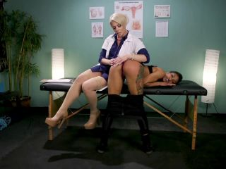 Helena Locke and Nikki Darling lesbians fisting and strapon domination