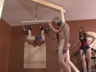 ClubDom –  Alexis Grace, Kendra James – Strap On Bondage Suspended – Forced Bi – Ass Fucking, Anal