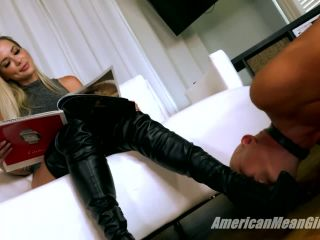 Shoe domination – THE MEAN GIRLS – Goddess Platinum – Making Boot Bitches Beg (Part 1)