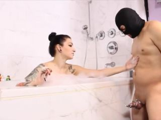 Chastity – Cybill Troy FemDom Anti-Sex League – Bubble Bath Foot Tease