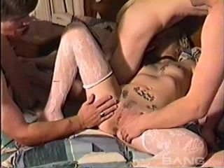 Amateur Blonde Chick Gets Fucked By Three Guys At The Same Time 720