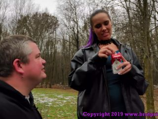 "BRAT PRINCESS 2: ""NATALYA - FART AND ASHTRAY SLAVE USED OUTSIDE"" (HUMAN ASHTRAY)"