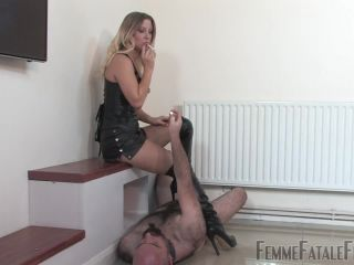 Porn online [Femdom 2018] FemmeFataleFilms – Vixen's Smoke Slave – Complete Film. Starring Mistress Vixen [human ashtray, humiliation, leather boots, smoking, spitting] femdom