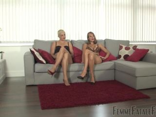 femdom korea FemmeFataleFilms – Dropping The Ball – Part 1. Starring Cate Fury and The Hunteress, ball slapping on femdom porn