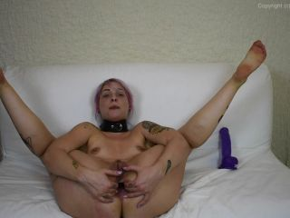 HelloLinnaea anal fisting and extreme dildo anal penetration