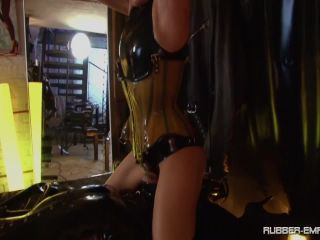 Feet Licking – Rubber-Empire – Condom Slut – Lady Blackdiamoond and Bizarr Lady Alice