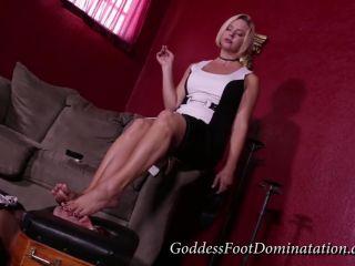 goddess foot domination  goddess brianna  sissy slut's progress  smoking