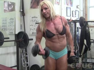 Lacey Works Out And Masturbates in the Gym