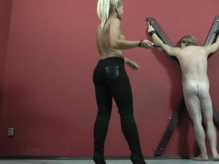 cruel mistresses  mistress gitta  half naked mistress with a whip  bare bottom spanking
