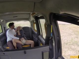 Horny couple hire the taxi for sex