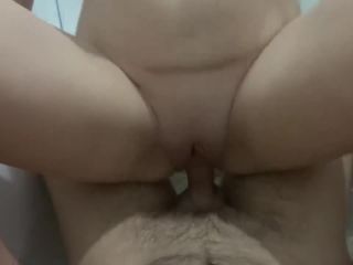 Hot Daria anal sex with ANAL CREAMPIE in the shower