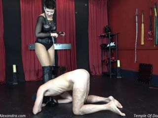 Mistress Alexandra – The boots that rules his life