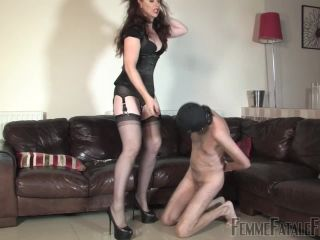Femme Fatale Films  Nipple Reward  Part 1. Starring Mistress Lady Renee [Trampling, Stockings, Trample]