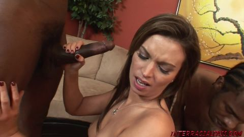 Interracialpass.com- | Bailey Gets Stuffed By Two Black Poles!